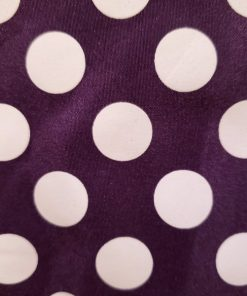 Purple and White Polka dot basket fabric