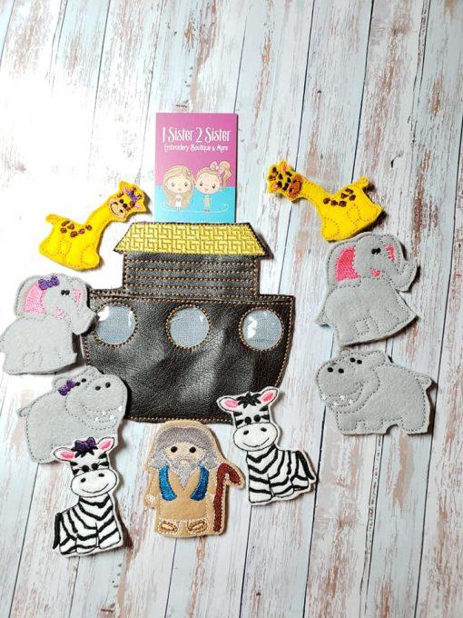 Noah's Ark Finger Puppets Children's Play Pretend