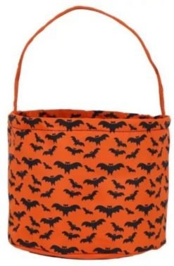Orange and Black Bat Basket