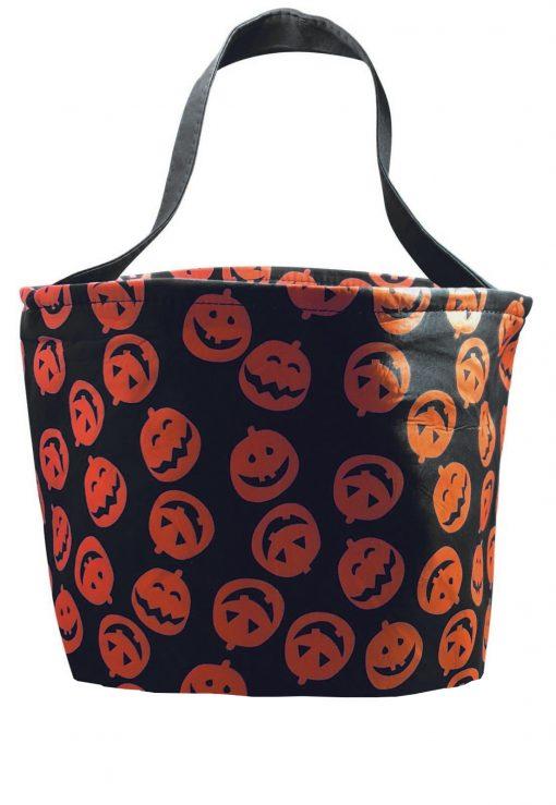 Jack-o-lantern halloween basket