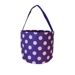 Purple and White Polka dot Halloween Candy Basket