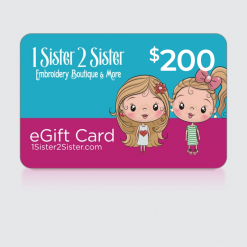 $200 Dollar 1Sister2Sister Gift Card