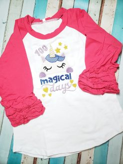 100 Magical Days Raglan Shirt for School