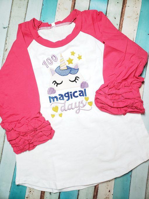 100 Magical Days Raglan Shirt for School
