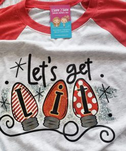 Let's Get Lit Raglan Tee for Adults