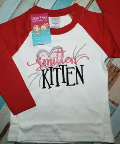 Smitten Kitten Raglan Tee Shirt for Kids.