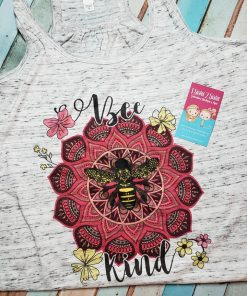 Bee Kind Flower Razorback Tank Top
