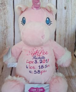 Birth announcement unicorn customized.