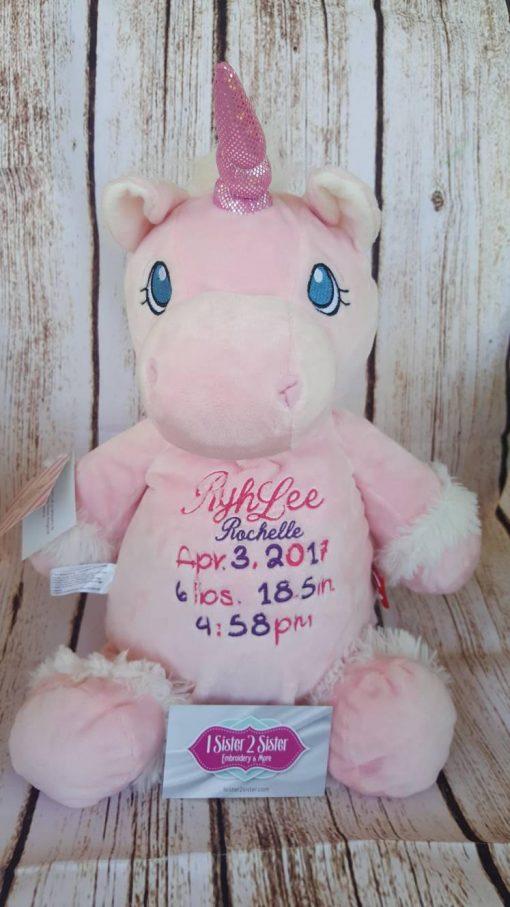 Birth announcement unicorn customized.