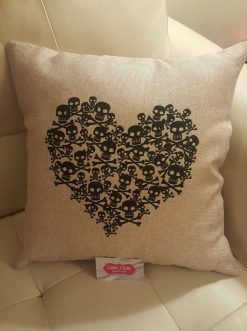 Skull & crossbones throw pillow case.