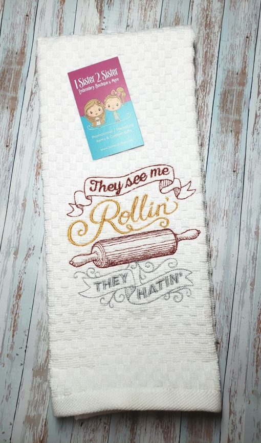 They see me rollin' they hatin' dishtowel
