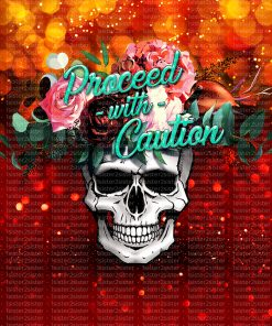 Flower skull red printable download design for sublimation and more.