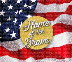 American flag home of the brave download printable file