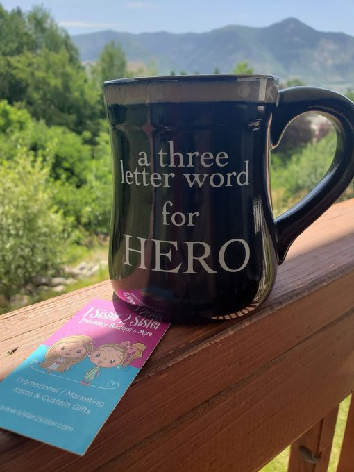 Three letter word for Hero mug for Dad