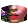 Flower girl color sublimation mask design