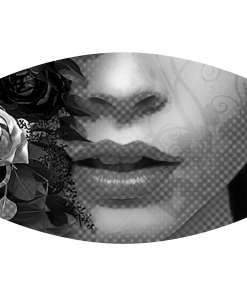 Flower girl gray sublimation mask design