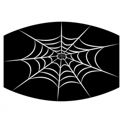 spiderweb black sublimation mask downloadable design