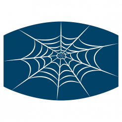 spiderweb blue sublimation mask downloadable design