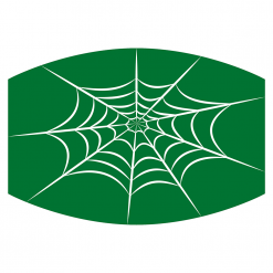 spiderweb green sublimation mask downloadable design