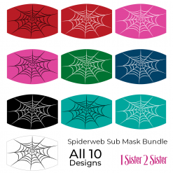 spiderweb sublimation mask downloadable design