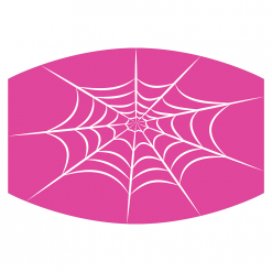 spiderweb pink sublimation mask downloadable design