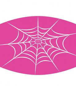 spiderweb pink sublimation mask downloadable design