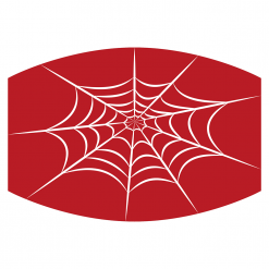spiderweb red sublimation mask downloadable design