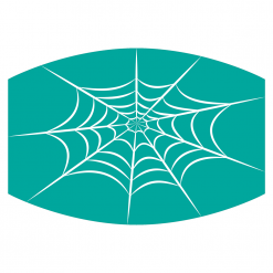 spiderweb teal sublimation mask downloadable design