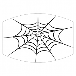 spiderweb white sublimation mask downloadable design