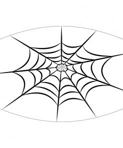 spiderweb white sublimation mask downloadable design