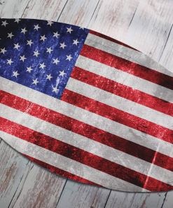 american flag mask design