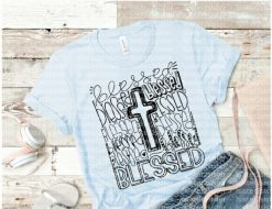 Blessed Cross Tee Shirt