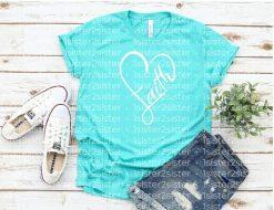 Faith Heart Tee Shirt