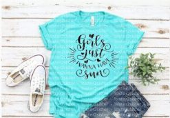 Girls Just Wanna Have Sun! Tee Shirt.
