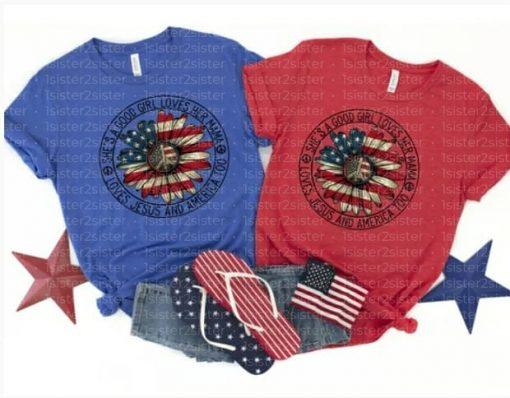 She's a Good Girl Peace America Tee Shirt