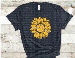 grunge sunflower tee shrit