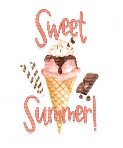 sweet summer white tee shirt