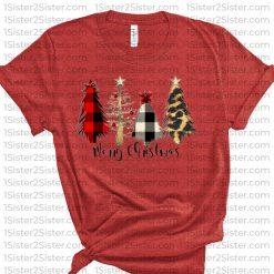 Merry Christmas Trees Tee Shirt