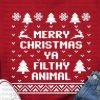 Merry Christmas Ya Filthy Animal Tee Shirt
