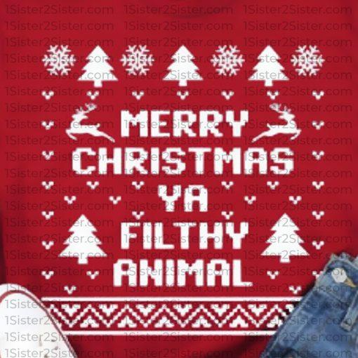 Merry Christmas Ya Filthy Animal Tee Shirt