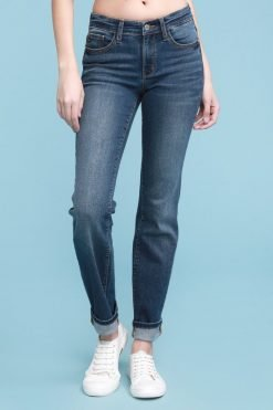 Cuffed Straight Jeans